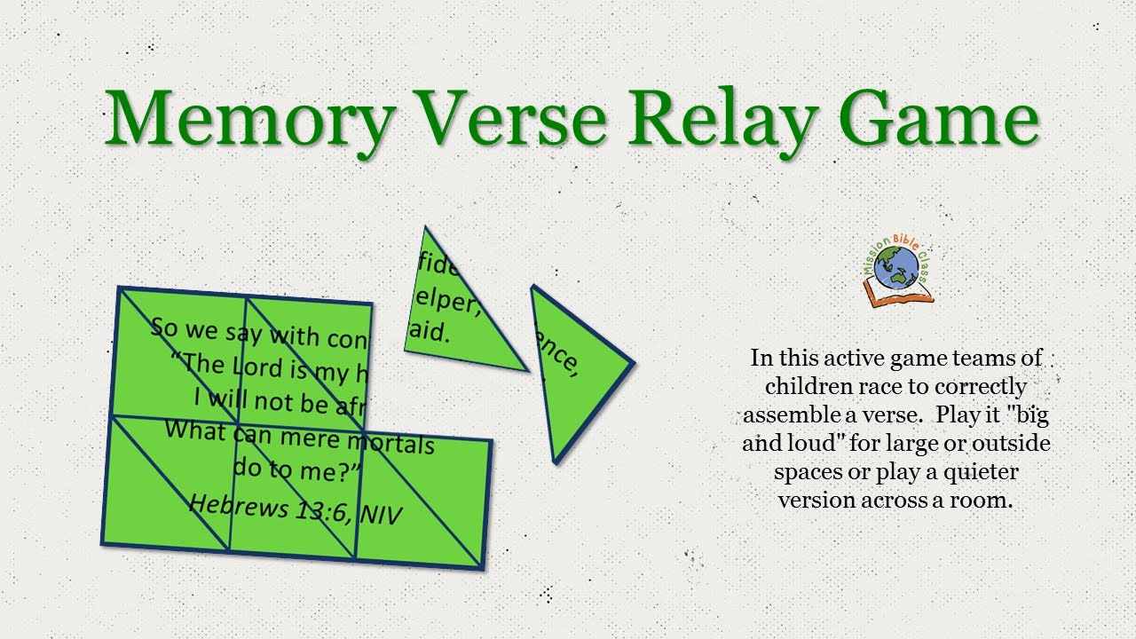 Memory Verse Relay Game Youtube