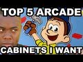 TOP 5 ARCADE GAME CABINETS (I Want to Own) - Black Nerd