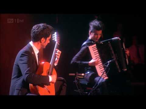 Milos with Ksenija Sidorova - Spanish Romance / Lebertango - Classical Brit Awards 2012