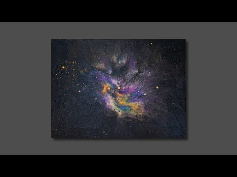 Route to Asgard / abstract painting / daily art therapy / pour painting / relaxing