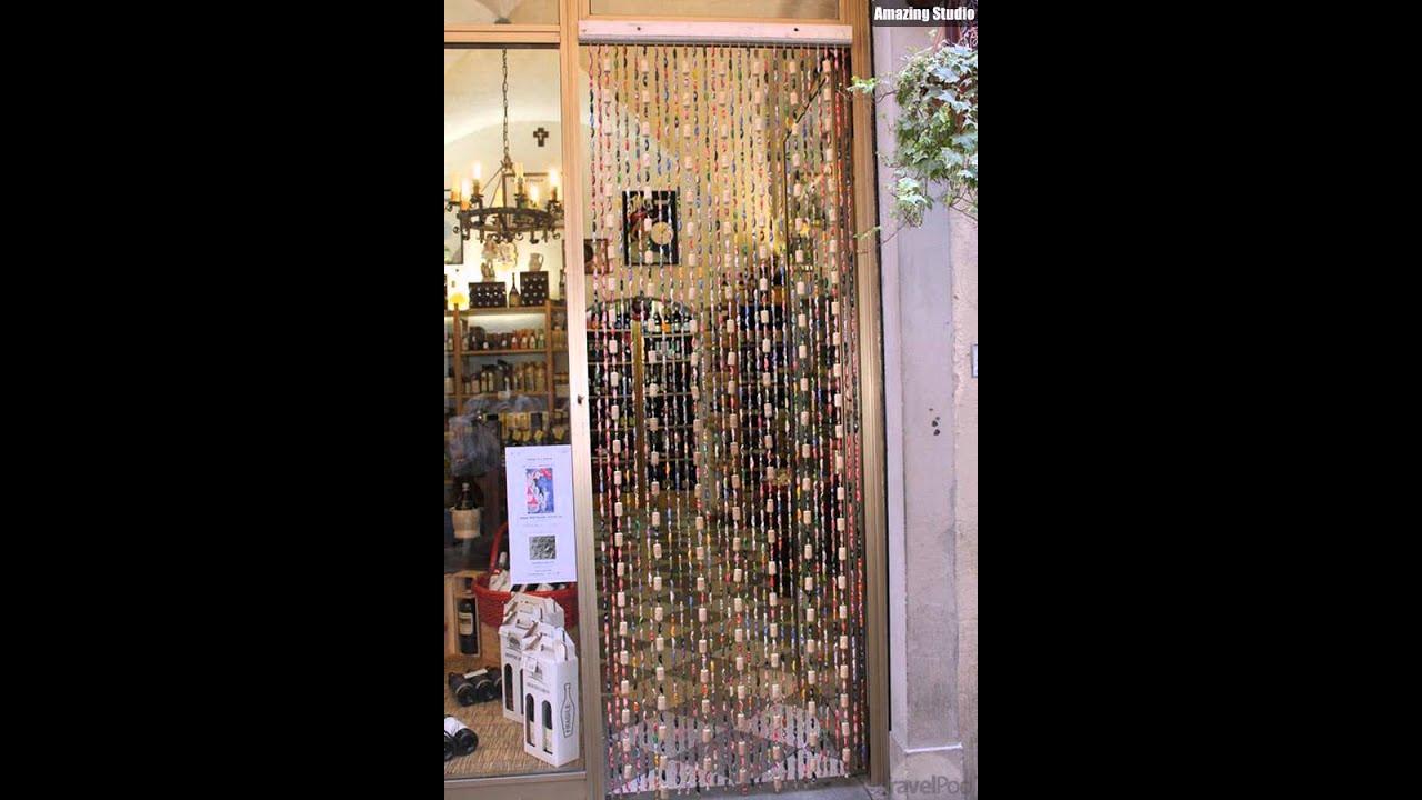 Superieur DIY Wine Cork Door Curtains