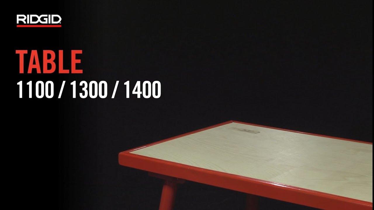 RIDGID Tables de monteur 1100 / 1300 / 1400