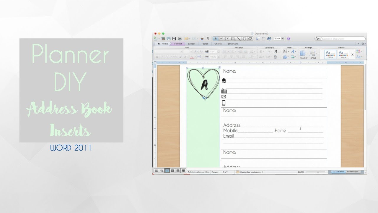 planner diy address book inserts youtube