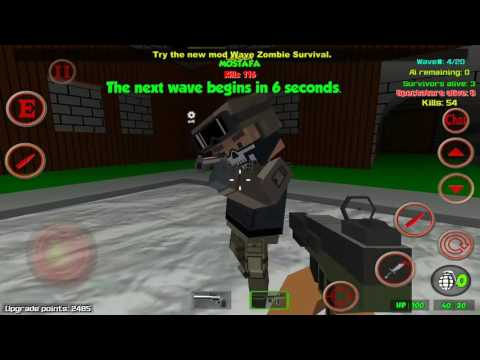 Blocky Combat Swat Apocalypse  Mobile Test In Wave Zombie