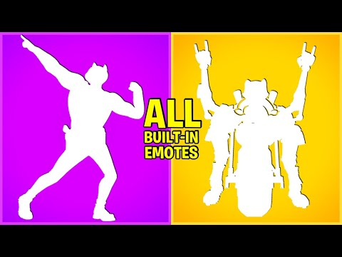 ALL BUILT-IN DANCES & Emotes In Fortnite Battle Royale!