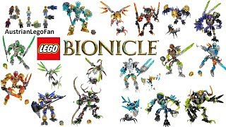 All Lego Bionicle Sets 2016 incl Uniters Creatures Beasts - Lego Speed Build Review