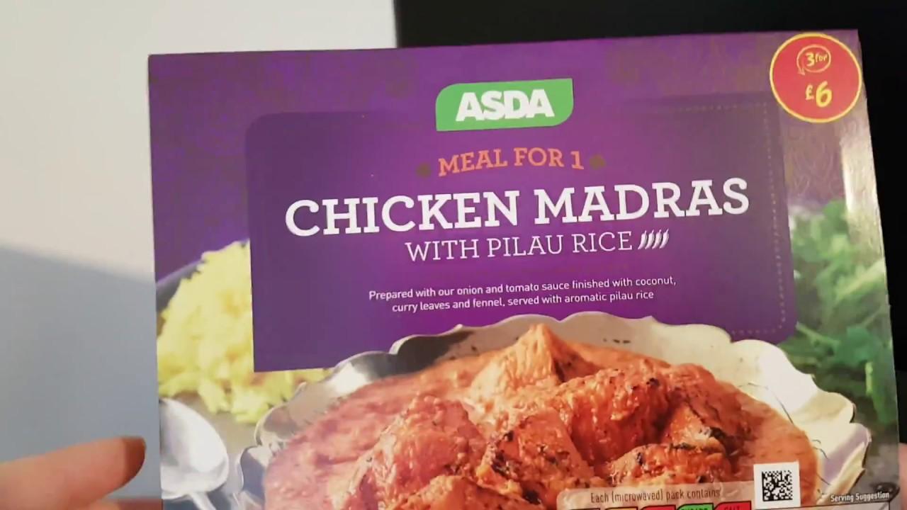 Asda Chicken Madras With Pilau Rice 450g