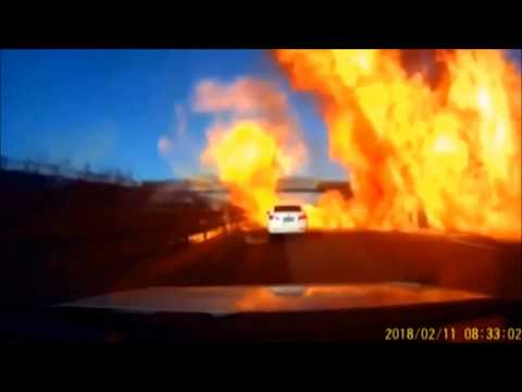Gas truck causes massive highway explosion