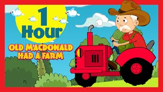 Old McDonald had a Farm (1 Hour) | English Poems Collection For Children