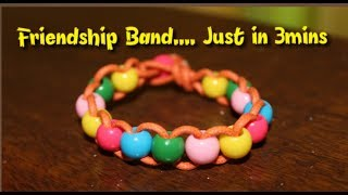 DIY/Easy/Friendship Bracelet Making in 3 mins....