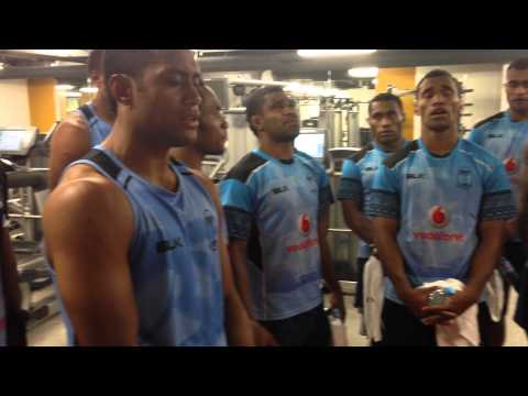 The Amazing Fiji Rugby 7s Team at City Athletic, London.