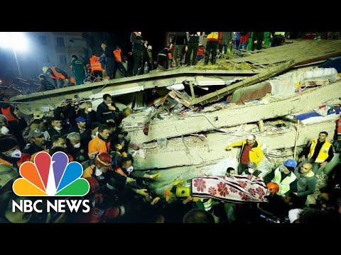 Deadly Istanbul Building Collapse Caught On Camera | NBC News