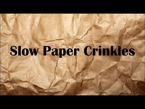 ASMR - Slow Paper Crinkles