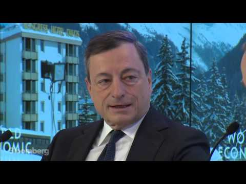 Mario Draghi On The Policies Of Central Banks In Davos - 22