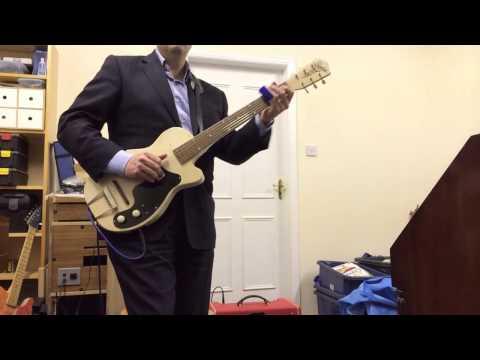 Elmore James electric guitar Silvertone 1361