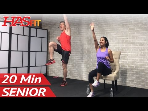 20 Min Exercise for Seniors, Elderly, & Older People - Seated Chair Exercise Senior Workout Routines