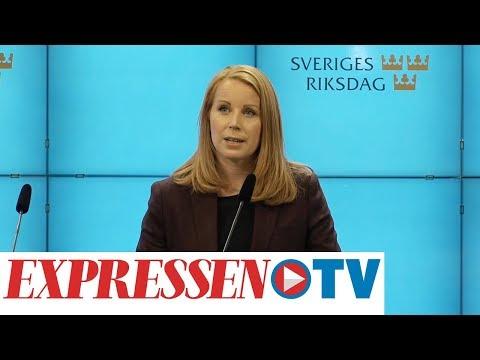 Annie Lööf (C) höll presskonferens