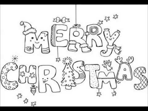 merry christmas coloring pages that say merry christmas coloring sheets printables youtube