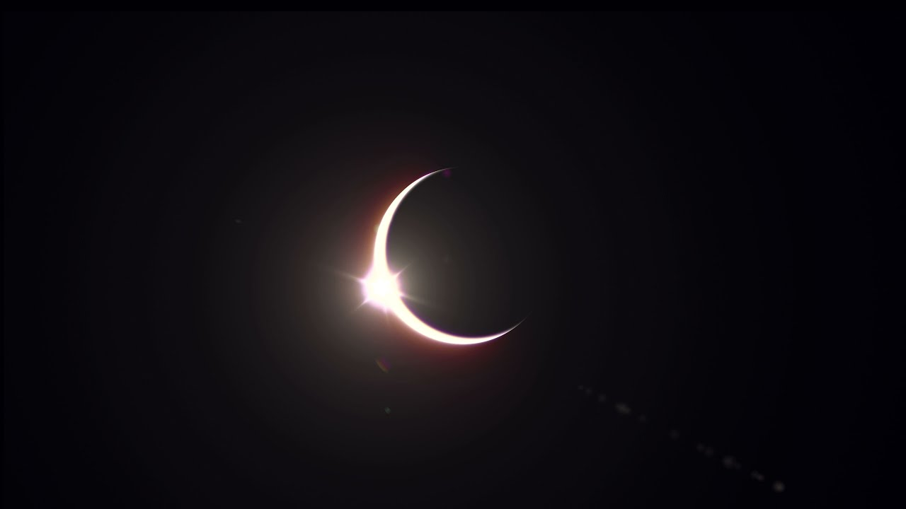 Solar Eclipse 2020 Footage 4K UHD - Royalty free motion background - Solar Eclipse Video 2020