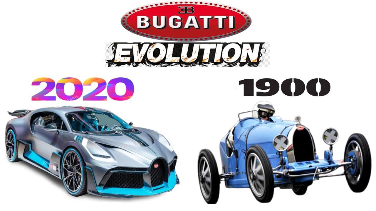 Bugatti Evolution (1900-2020) Bugatti Divo evolution |Bugatti history | Bugatti New model 2020 ...