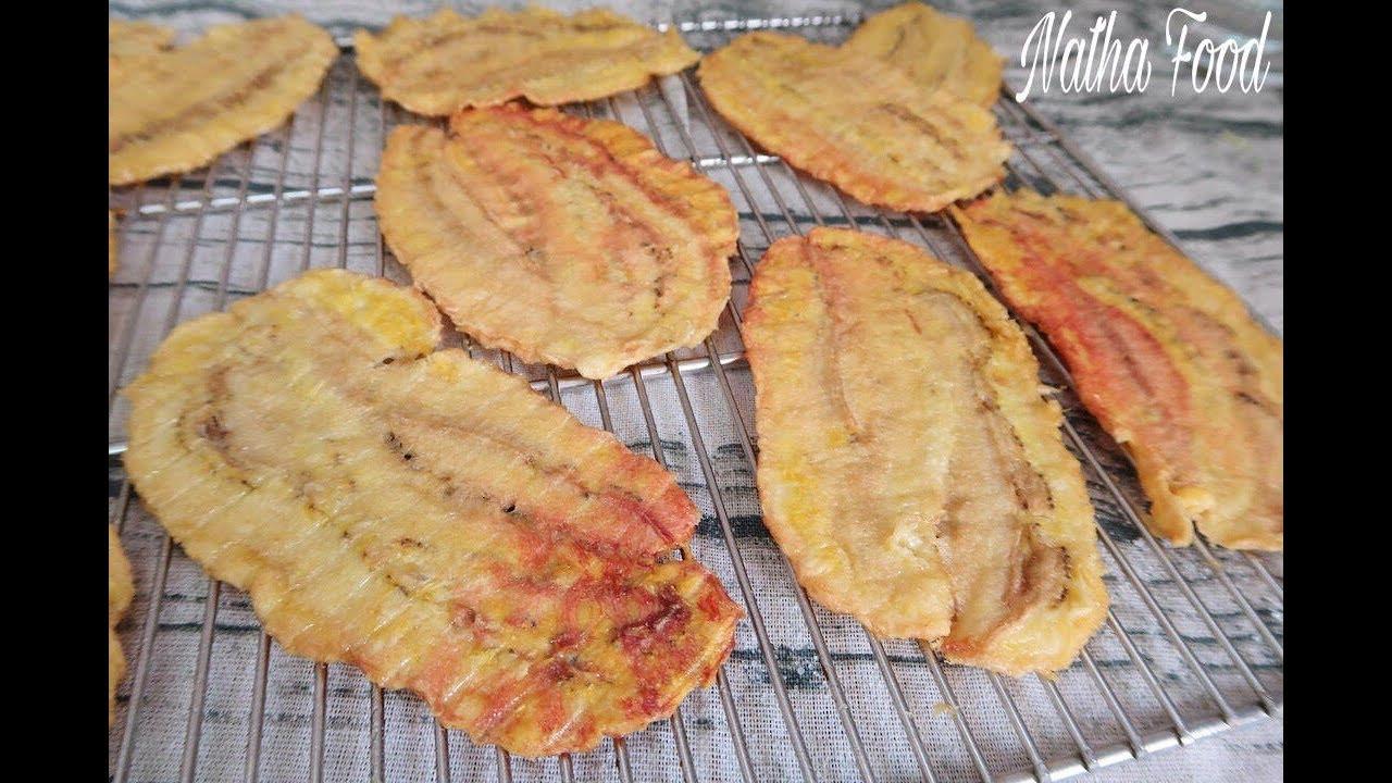 Chuối ép sấy khô bằng lò nướng    Dried Banana   Bánh canh bến có   Natha Food