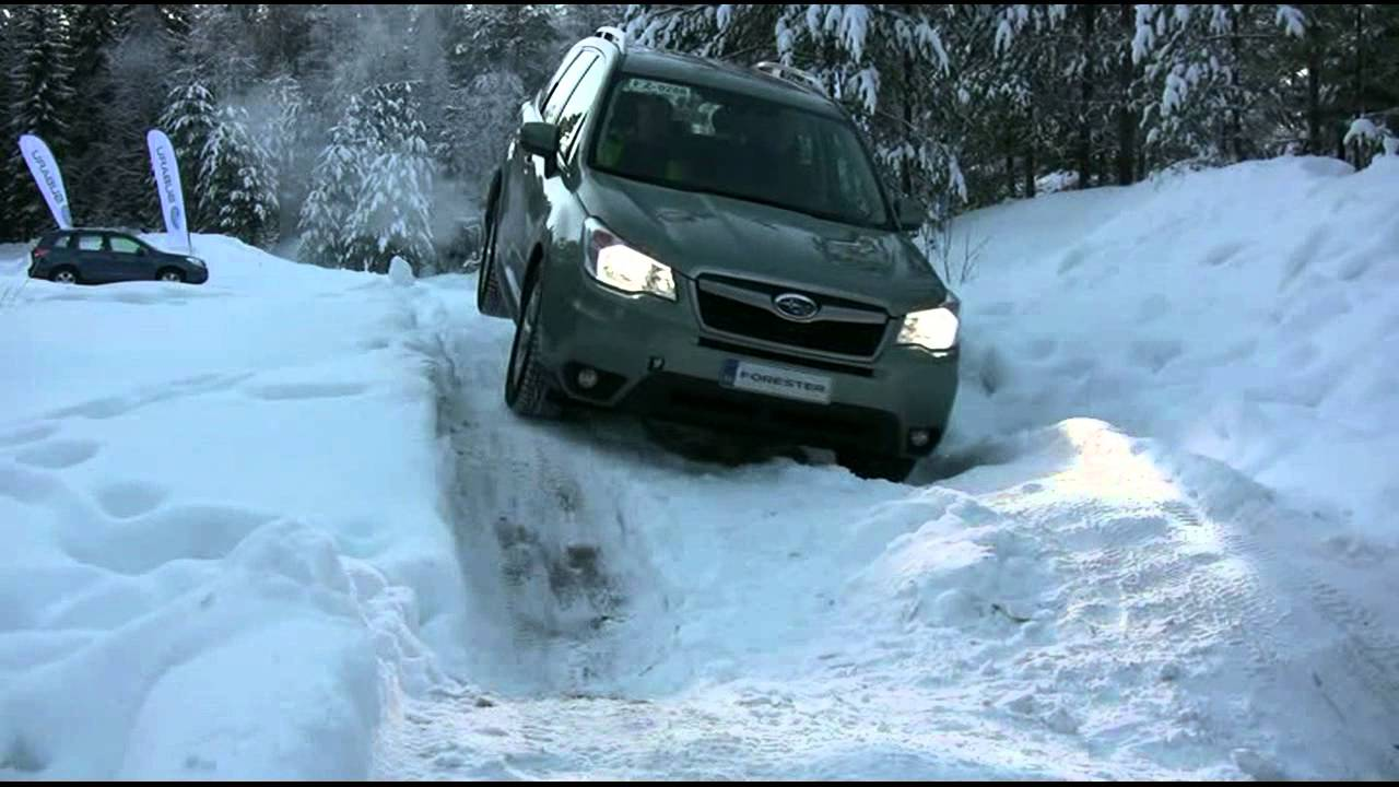 2013 Subaru Forester Winter Off Road Test (X-MODE) - YouTube