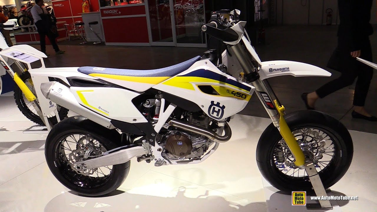 2015 Husqvarna FS 450 Super Motard Bike - Walkaround - 2014 EICMA ...