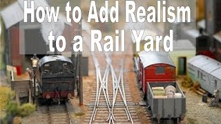 How To Make Background Buildings For A Model Railroad Yard