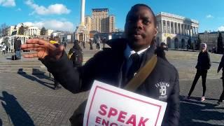 Ha-Ha, or How to Speak English & Win a Prize at Maidan (Square) in Kiev, Ukraine?