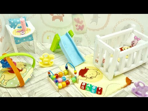 Diy Miniature Disney Pooh Nursery Baby Room Crib Toy High Chair More Not Kit