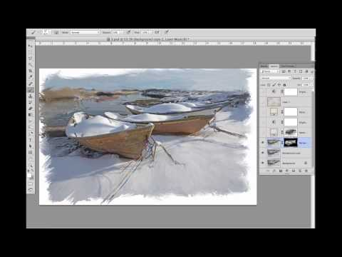 Overview Digital painting process