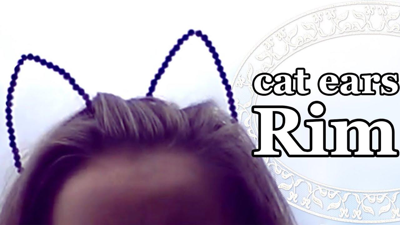Как своими руками сделать обруч с ушками кошки