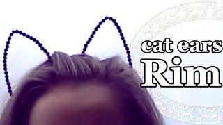 Ободок с кошачьими ушами своими руками | Tumblr Inspired DIY Cat Headband [english subs]