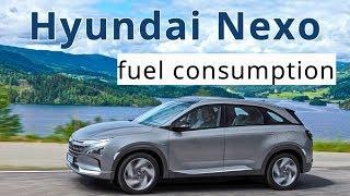 Hyundai Nexo, fuel consumption
