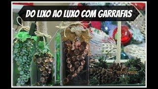 DIY:luminária de garrafa PARA O NATAL