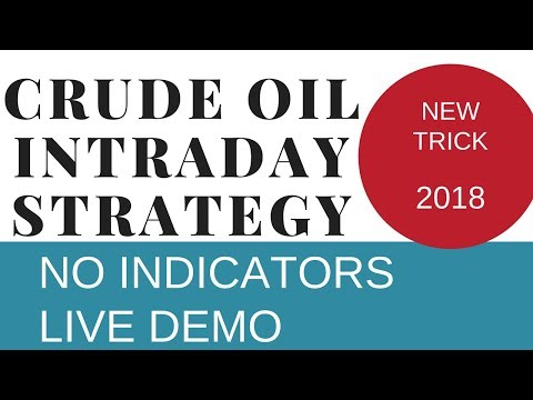 Crude Oil Intraday Trading Strategy With Live Demo, No Indicators, New Trick 2018