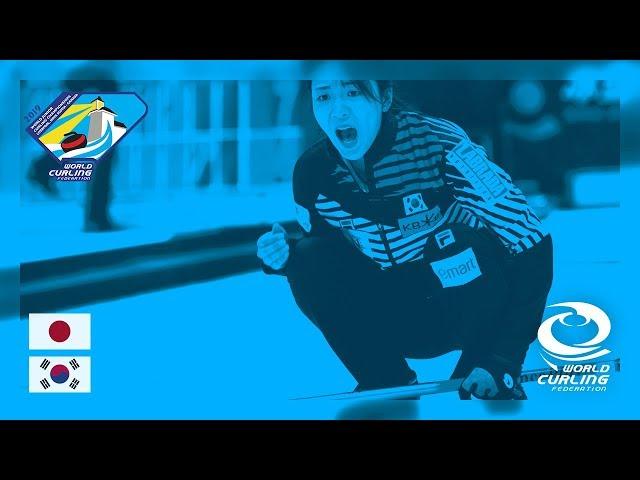Japan v Korea - Women's Round-robin - World Junior Curling Championships 2019