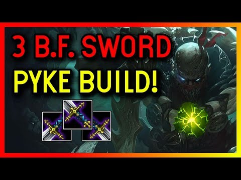 3 BF SWORD BUILD - SUPPORT AFTERSHOCK PYKE GAMEPLAY - League of Legends thumbnail
