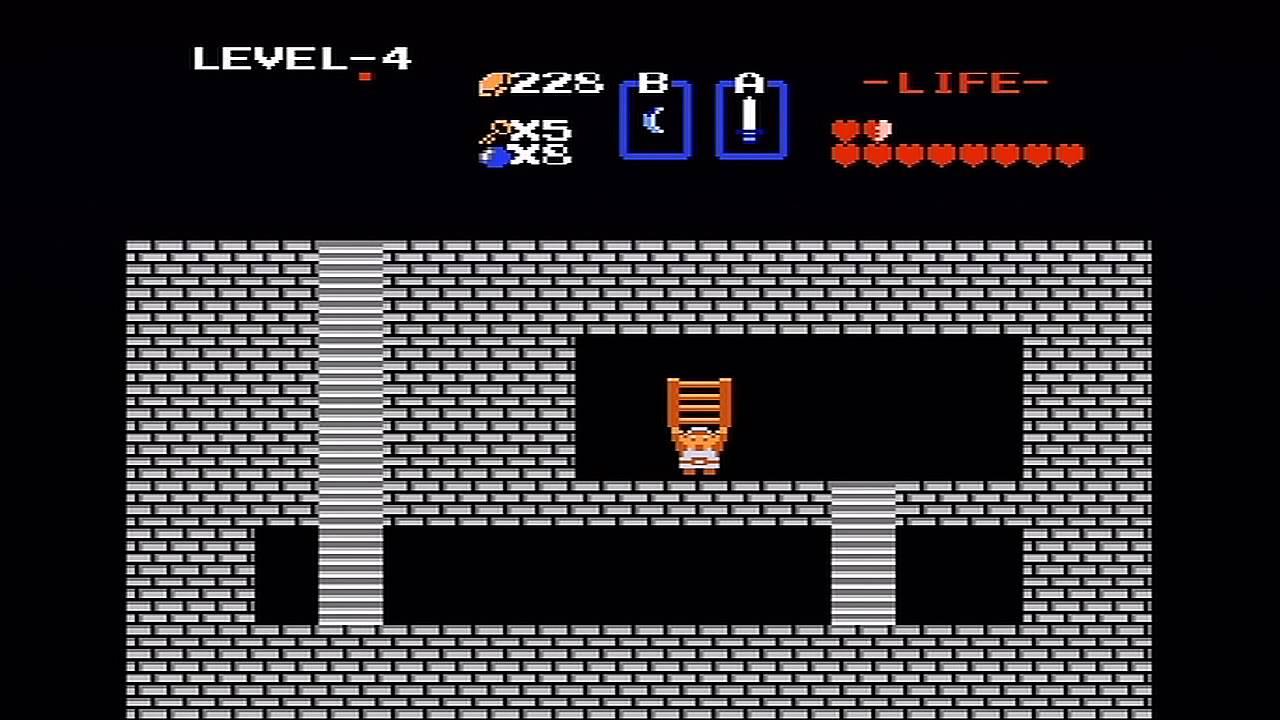 The Legend of Zelda (NES) Walkthrough (Part 5) - Level 4 \
