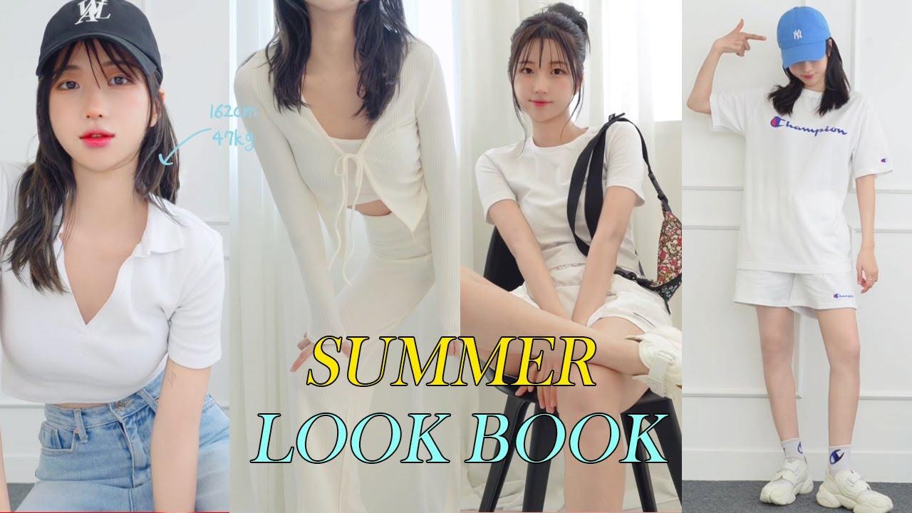 162cm 47kg 진짜 편한데 예쁘기까지한 여름 룩북🧢👚👖 | 아마 이 코디만 입게될걸? | 자라 | H&M | 챔피온 | 나이키