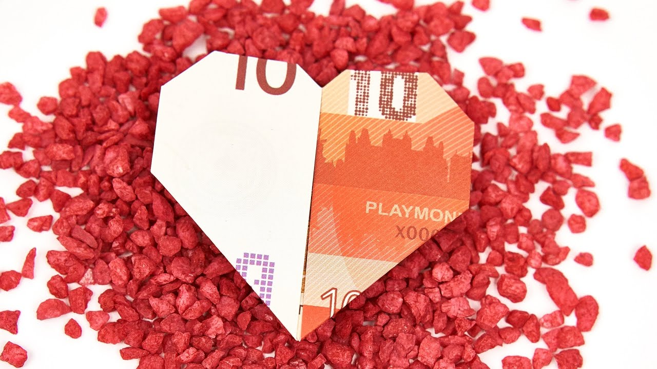 Geldschein Falten Herz Einfach Anleitung Geldgeschenk Hochzeit