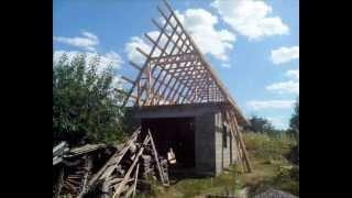 видео сарай с беседкой под одной крышей