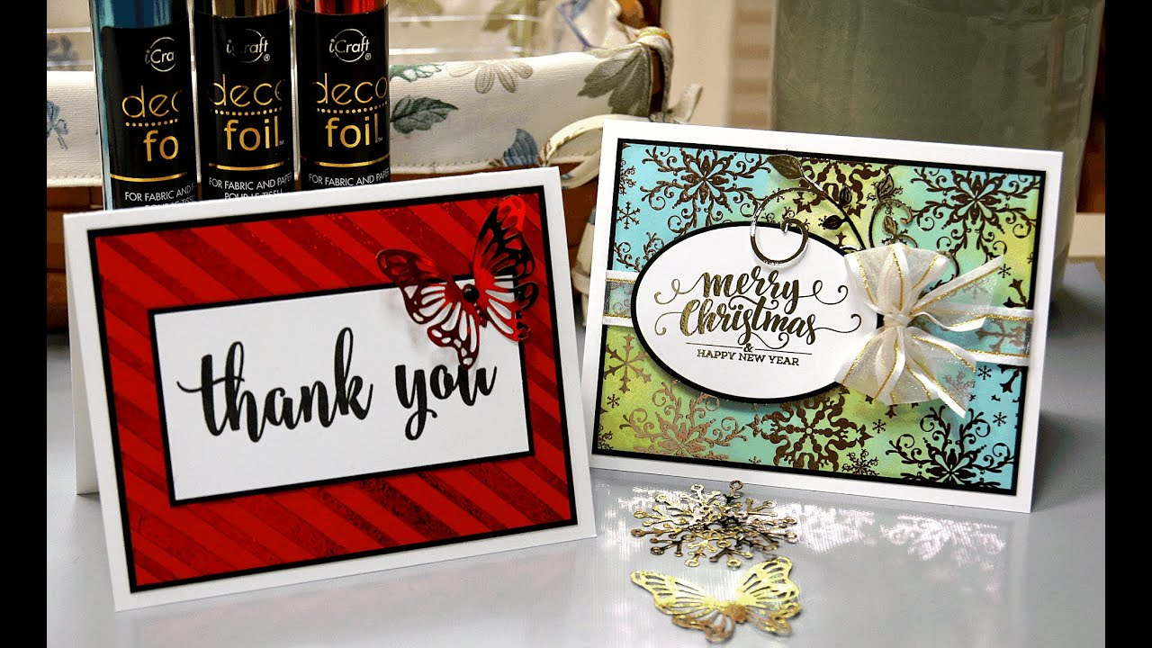 Card Making Ideas Gina K Part - 30: More Fun With Deco Foil. StampTV With Gina K.