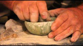 Making a Stone Bowl Using Primitive Tools