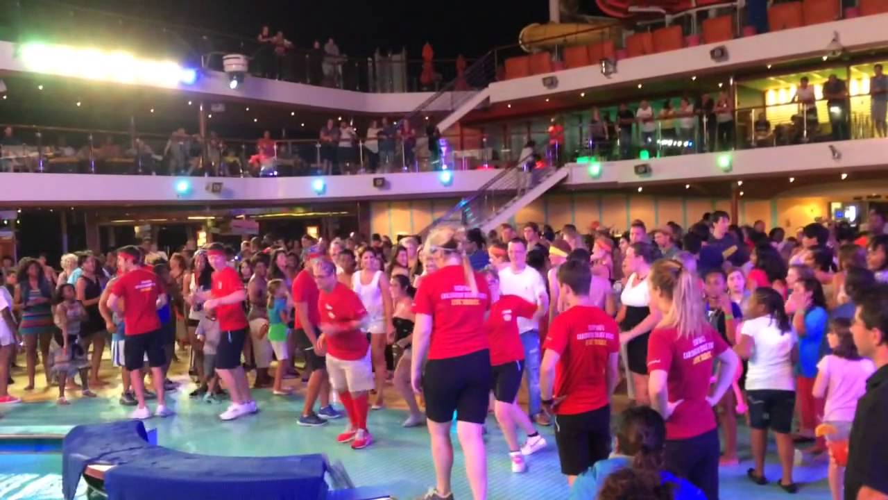 2013 Carnival Breeze Deck Party Youtube