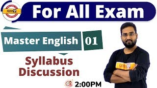 Class-01 || For All Exam || Master English || By Prince Sir || Syllabus Discussion