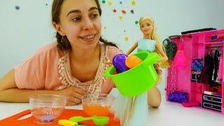 Видео для девочек: Барби идет в магазин за овощами