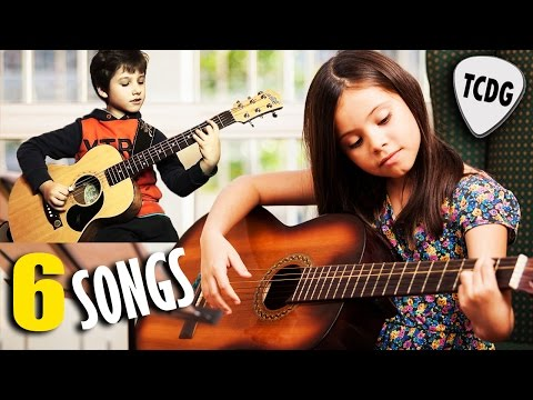 How To Play 6 Easy Songs On Acoustic Guitar | Nursery Rhymes and Children´s Songs For Guitar TCDG