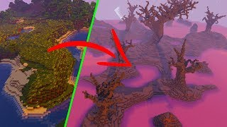 EXTREME Minecraft Biome Transformation with World Download!