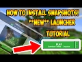 How To Install Minecraft Snapshots 17w14a  In The NEW Minecraft Launcher